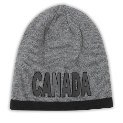 Charcoal/Black Rubber Canada Men Beanie