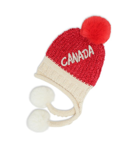 Red/Offwhite Canada Embroidery Chanil Hat