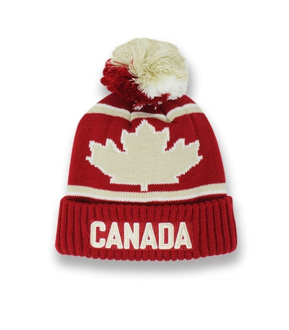 Maroon Canada Roots Vintage Unisex Beanie