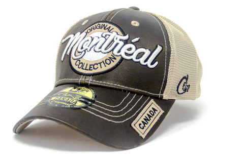 Brown/Sand Montreal Original Collection 2 Tone 3D Embroidery Cap