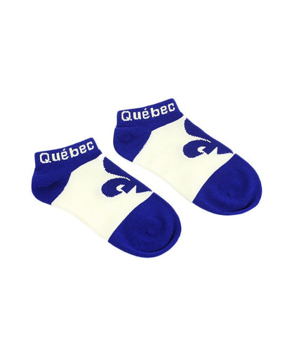 Royal Blue Quebec Flag Socks