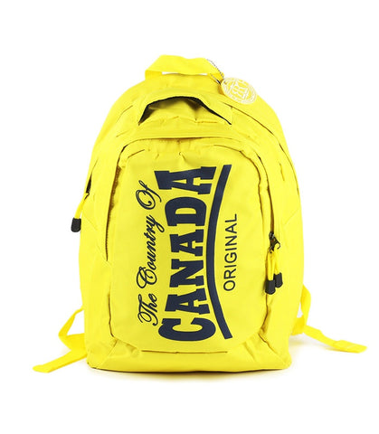 Yellow Canada College Backpack