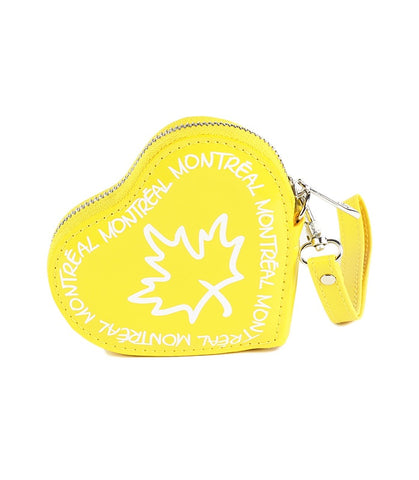 Yellow Montreal Heart Coin Purse