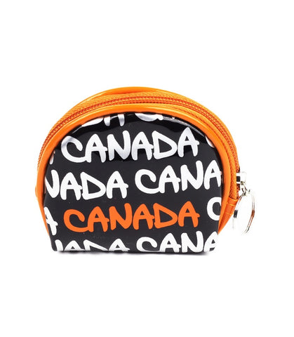 Black & Silver Canada Round Coin Purse