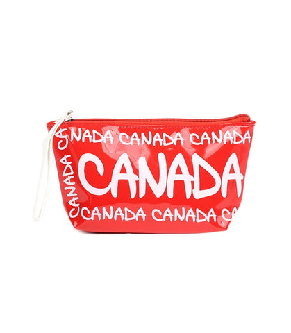 Red Canada Outline PVC Small Bag