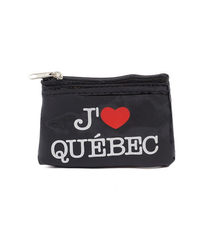 "Black J'Aime Quebec"" Rectangle Coin Purse"""