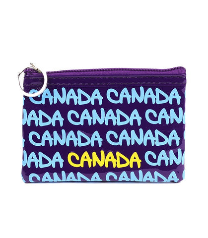 Purple Canada Rectangle Coin Purse