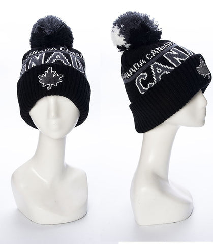 Black/Grey Canada Roots Unisex Beanie