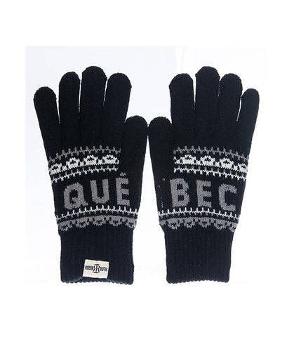 Black/Grey Quebec Roots Unisex Gloves