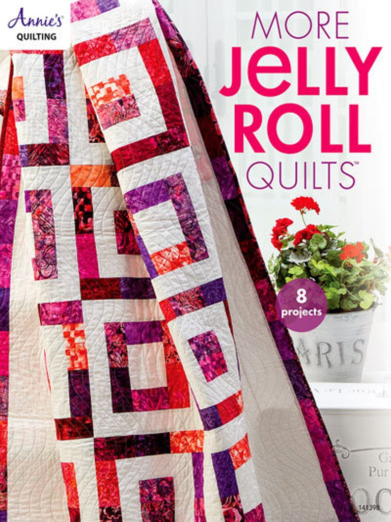 The adorable book contains 8 projects to use your jelly rolls and other strip sets.  A must for your personal library.