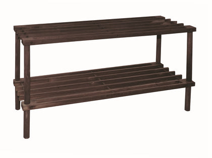 2 Tier Shoe Rack (Dark Brown)