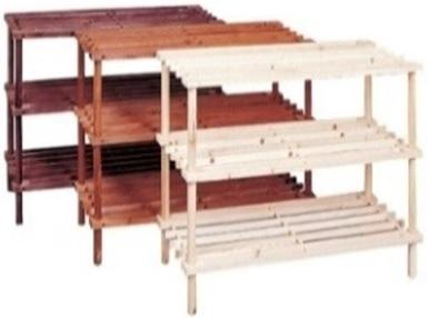 3 Tier Wooden Shoe Rack (Dark Brown)