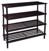4 Tier Shoe Rack | (Dark Brown)