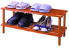 2 Tier Shoe Rack (Medium Brown)