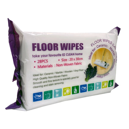 Ez Clean Floor Wipes Lavender 28pcs