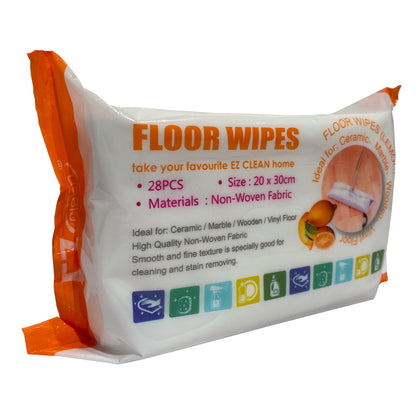 Ez Clean Floor Wipes Lemon 28 pcs