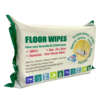 Ez Clean Floor Wet Wipes Pine Scent 28pcs