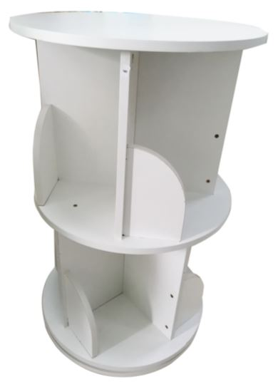 2 Tier Round Rotating Book Shelf 39 x 66cm