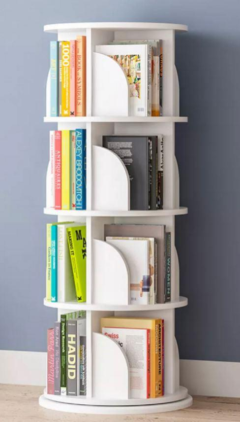 4 Tier Round Rotating Book Shelf | 39 x 128cm