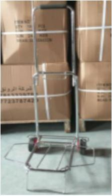 Electroplated foldable shopping trolley | 87 X 36 X 36cm