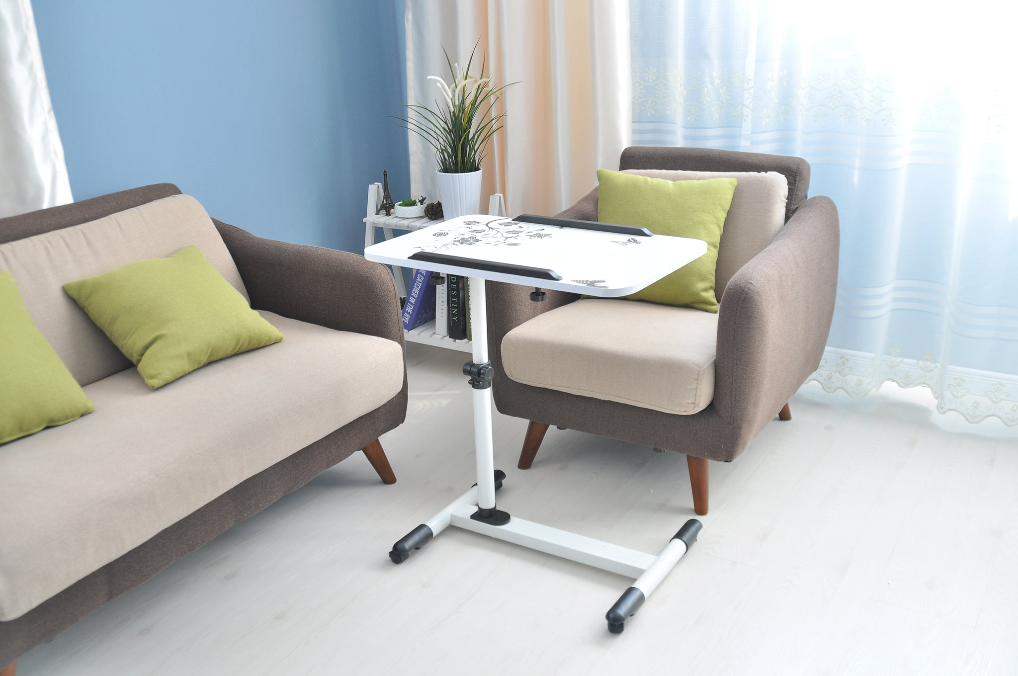 Movable Table Height Adjustable | White
