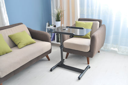 Movable Table Height Adjustable | Black