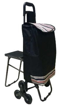 3 Wheels Shopping Trolley with Polyester Bag 92 x 50 x 42cm | PLD-D1001