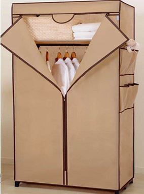Solid cloth wardrobe beige color | 60 x 45 x 150cm