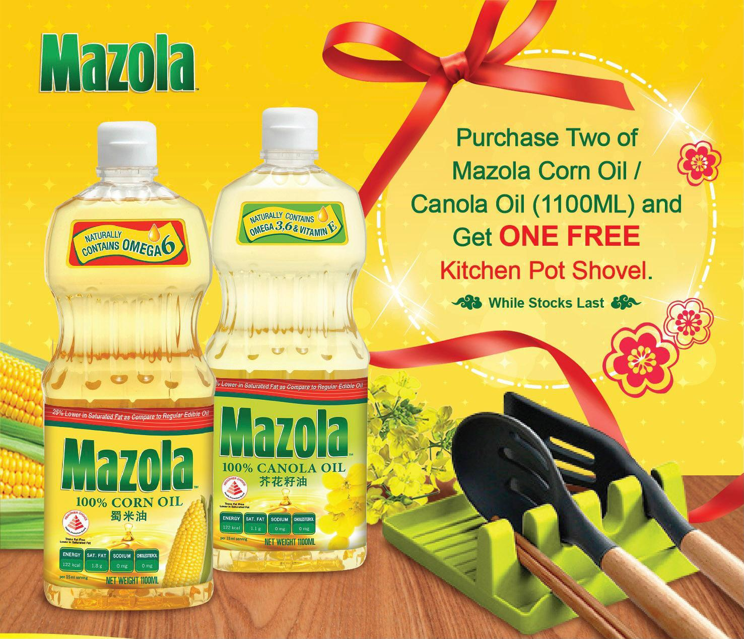 Twin Pack Canola Oil/Mazola Corn Oil with Free Kitchen Pot Shovel