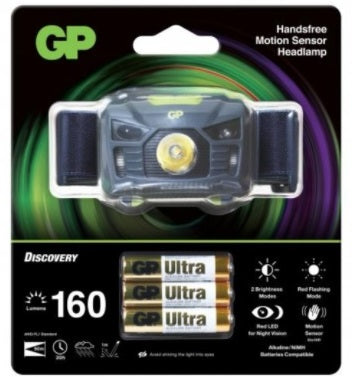 GP HEADLAMP WITH DIODES GP BATTERIES | PREMIUM RANGE WITH 3 AAA BATTERIES