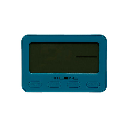 Timeline Digital Alarm Clock Blue 10.6 x 3.3 x 7.2cm