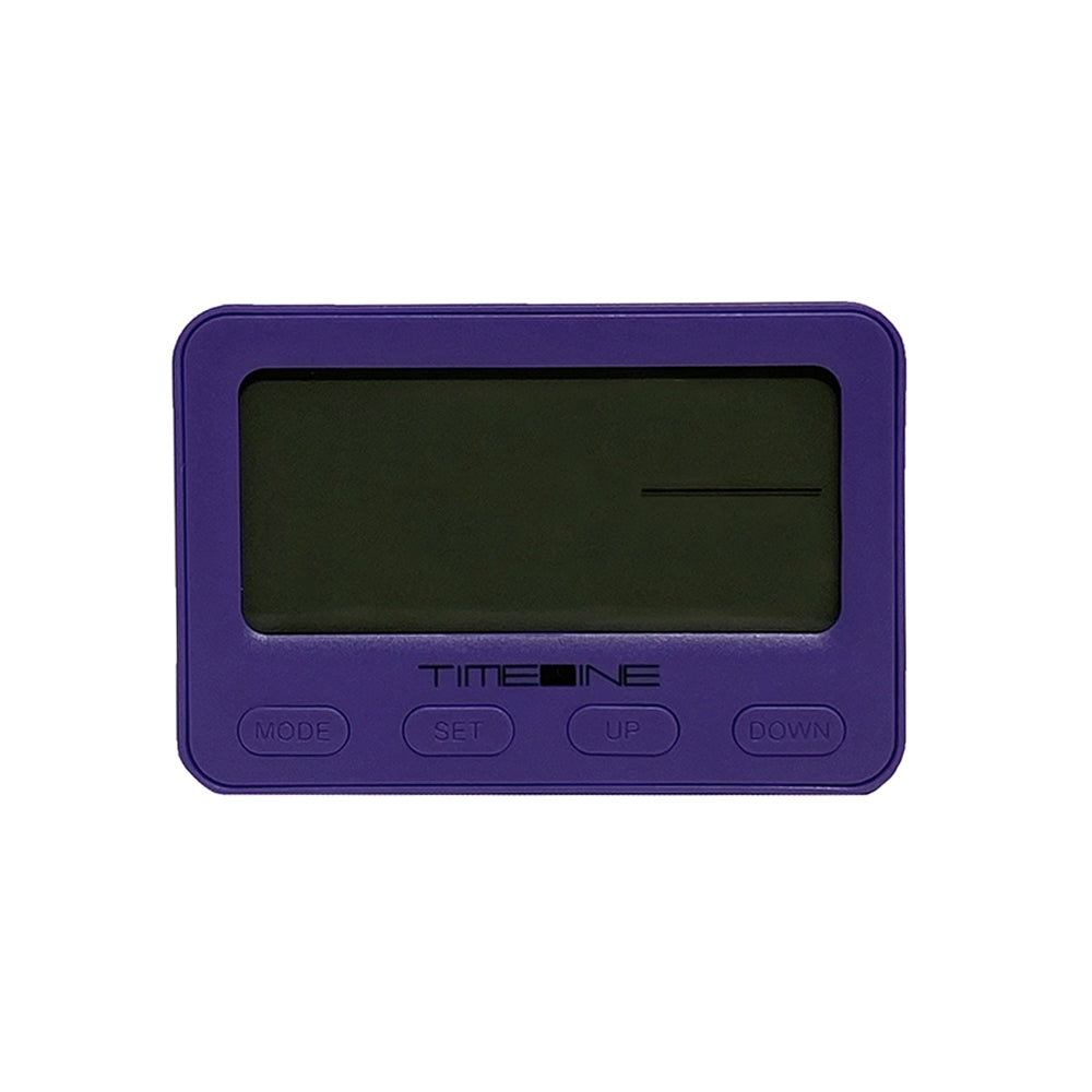 Timeline Digital Alarm Clock Purple 10.6 x 3.3 x 7.2cm