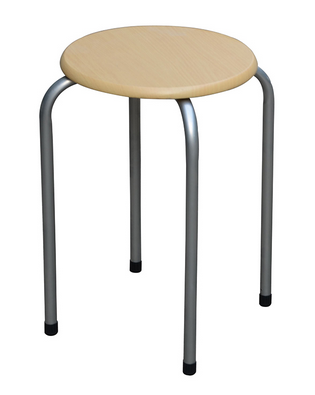EZ Home Round Stacking Chair | 30 x 30 x 45cm