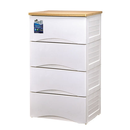 EZ KEEP 4 TIER WOODEN TOP DRAWER CABINET