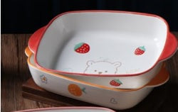 Strawberry Bear 9 Bakeware Plate (10 pieces for $34.75)
