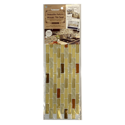 Beaustile Reform Mosaic Tile Seal Brick brown
