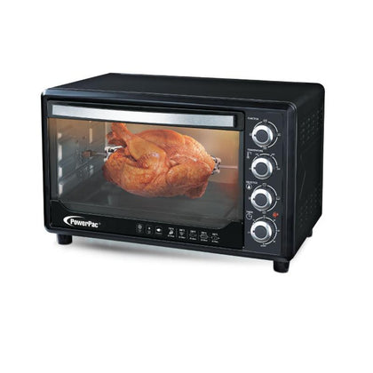 ELECTRIC OVEN 30L WITH ROTISSERIE & CONVECTION FUNCTIONS, 2 TRAYS & WIRE MESH