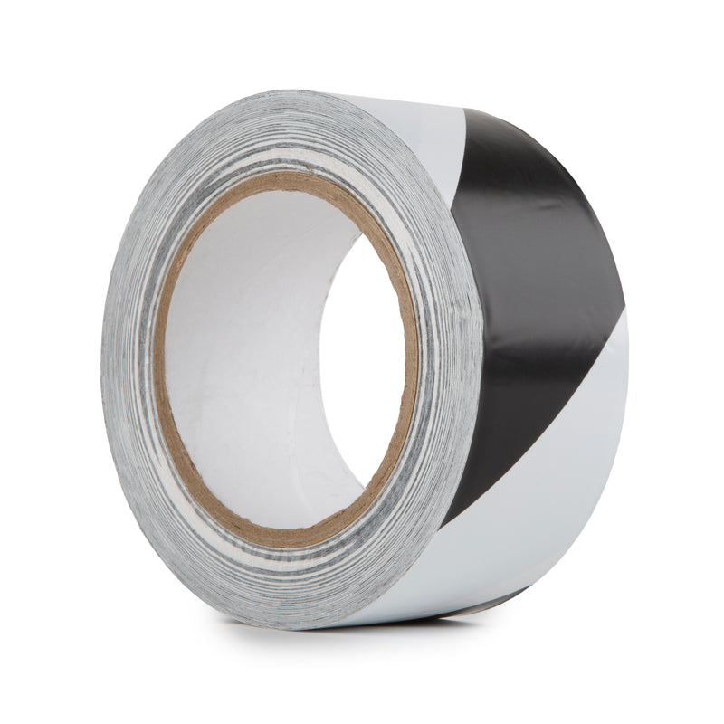 HAZARD WARNING PVC TAPE BLACK