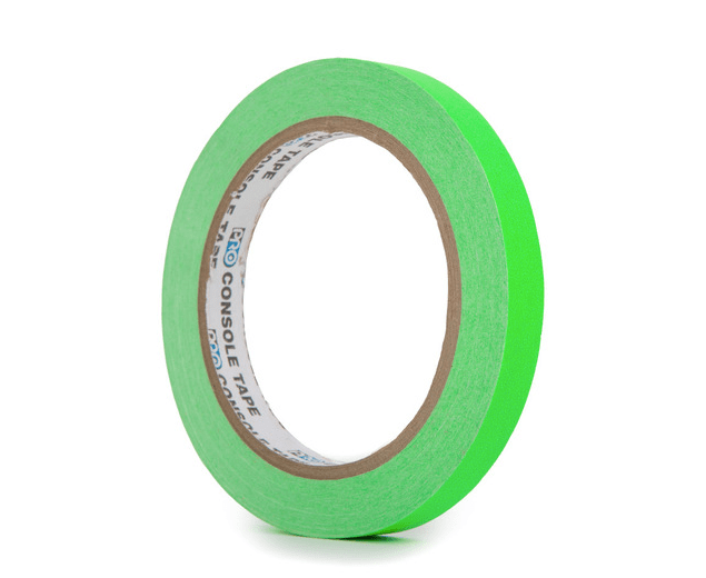 PRO CONSOLE TAPE FLUORESCENT GREEN