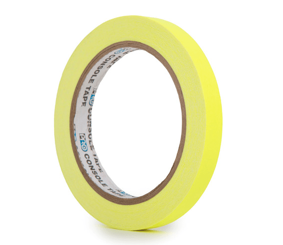 PRO CONSOLE TAPE FLUORESCENT YELLOW