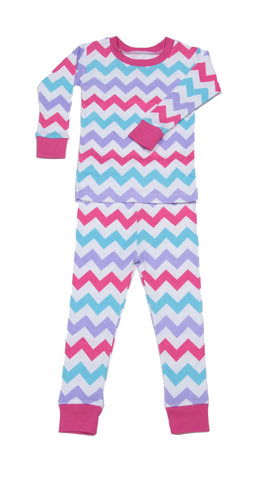 New Jammies - Girls Chevron