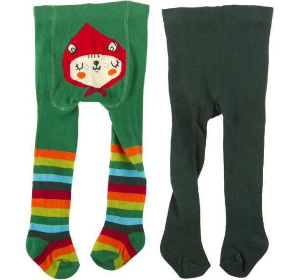 Tuc Tuc Tights 2 Pack Green Stripes