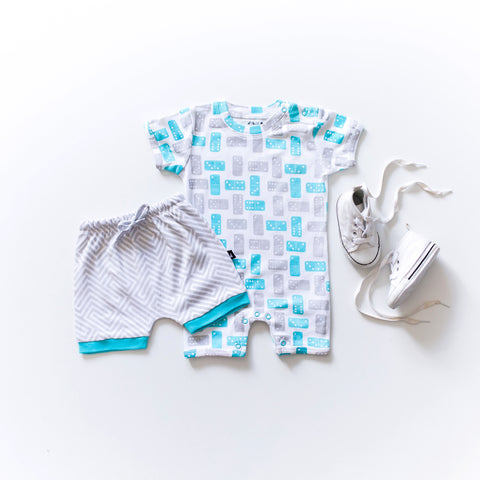 Anarkid Domino Short Sleeved Romper Blue