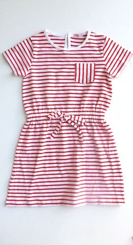 Papoose Striped Dress - Red