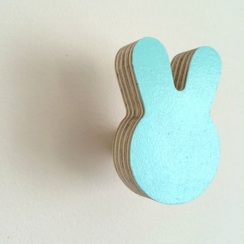 Knobbly Wall Hook Bunny Mint
