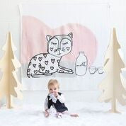 Kippins - Kitty Snooze Blanket/Muslin