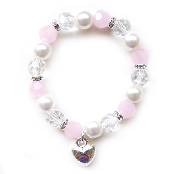 Lauren Hinkley Pink Crystal With Heart Bracelet