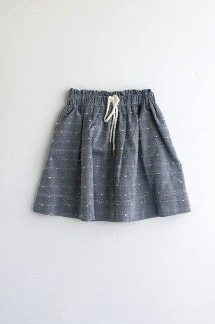 Morgan & Milo Navy Olivia Skirt