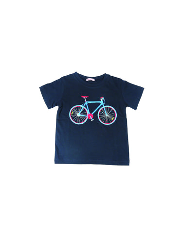 Papoose Bicycle T Shirt - Navy