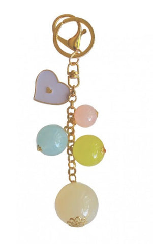Add Hoc Bauble Keyring Violet Heart